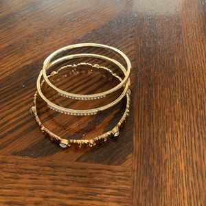 Set of 3 Charming Charlie bling bracelets
